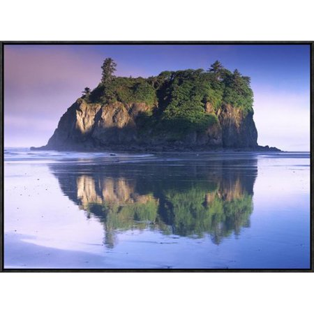 Global Gallery Abbey Island Looms Over Ruby Beach  Olympic National Park  Washington By Tim Fitzharris Framed Photographic Print On Canvas