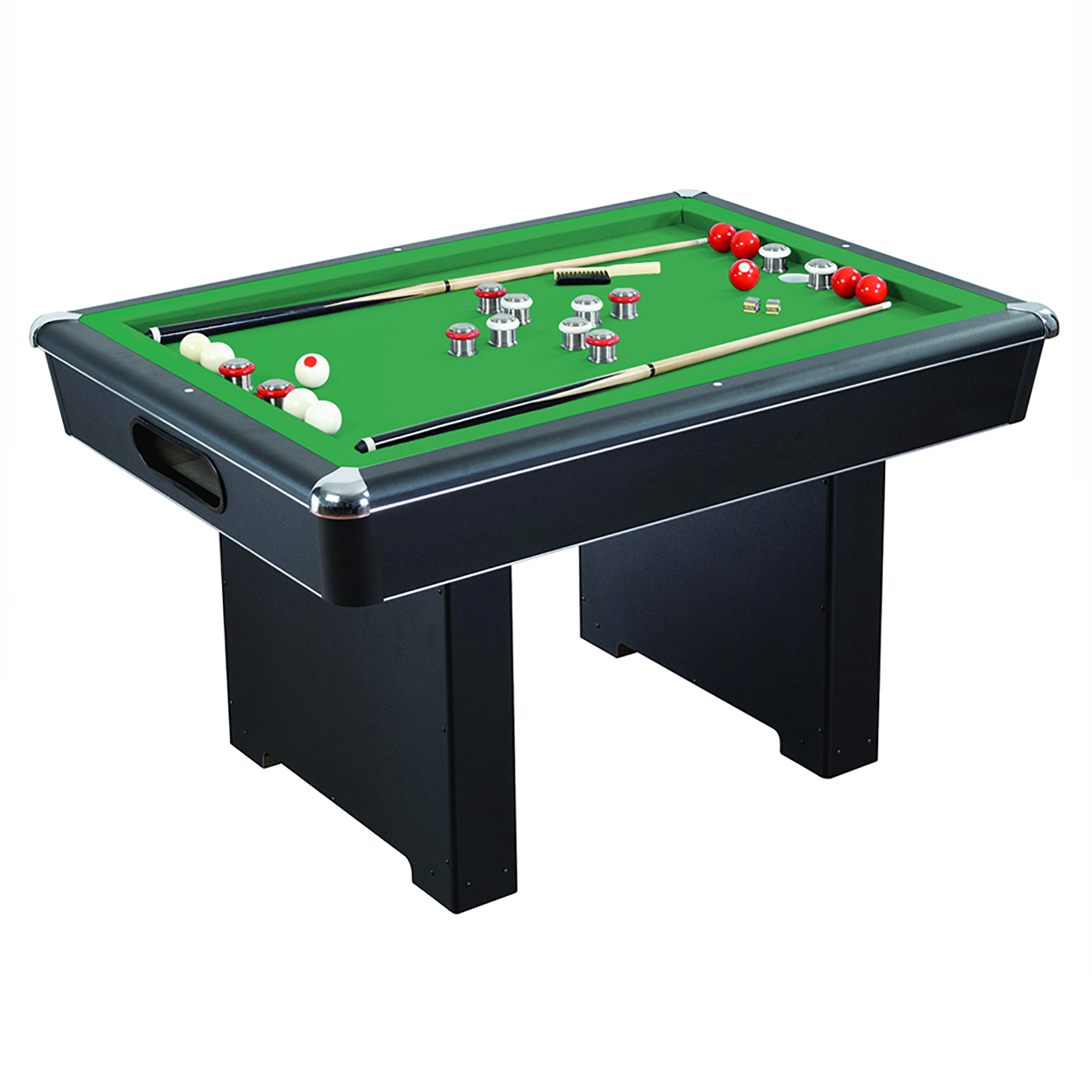 Hathaway Renegade 54-In Slate Bumper Pool Table for Family Game Rooms with Green Felt, 48-In Cues, Balls, Brush and... by Blue Wave
