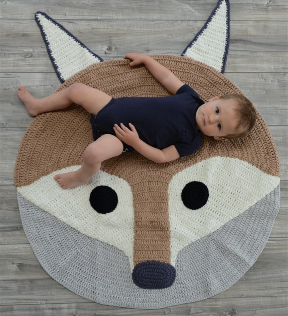 Fox Playmat Handmade From Softest Cottons for Baby in Fun...