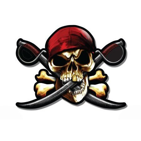 Pirate Skull Crossbones - Vinyl Sticker Waterproof Decal Sticker 5