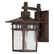 14 in. Outdoor Lantern in Rustic Bronze Finish