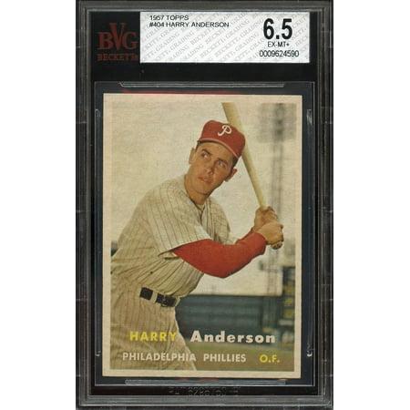 1957 Topps  404 Harry Anderson Philadelphia Phillies Bgs Bvg 6 5