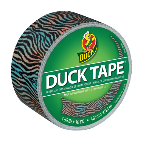 Duck Tape Tiger Stripes Printed Duct Tape. 1.88 inches wide 10-yard roll
