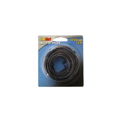 Everstart 51654-76-08 12-Gauge Black Automotive Primary Wire, 12-Feet