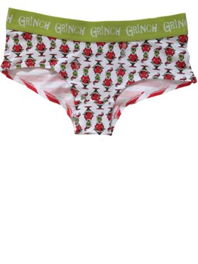 d95be576a Product Image Womens Grinch Santa Clause Hipster Boyfriend Briefs Christmas  Underwear Panties