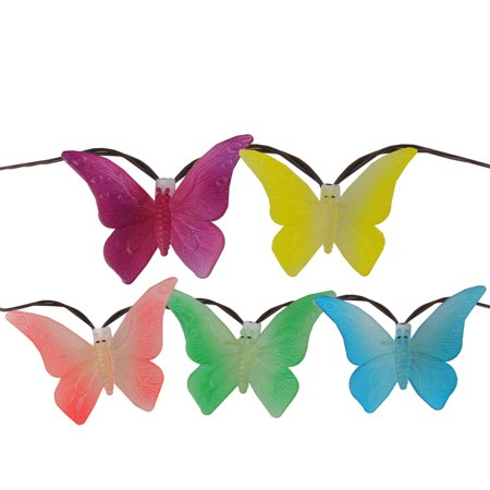 10 Summer Butterfly Outdoor Patio String Lights - 7.25ft. White Wire ()