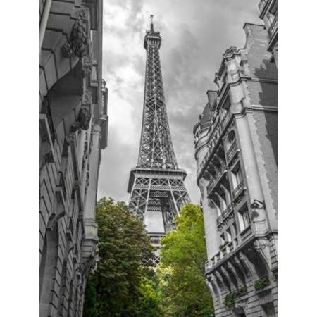 View of Eiffel Tower from a narrow street in Paris France Poster Print by  Assaf Frank