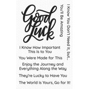 """My Favorite Things Clear Stamps 4""""X6""""-Good Luck Greetings"""