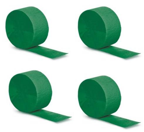 Emerald Green Crepe Streamer, 81ft, 1ct