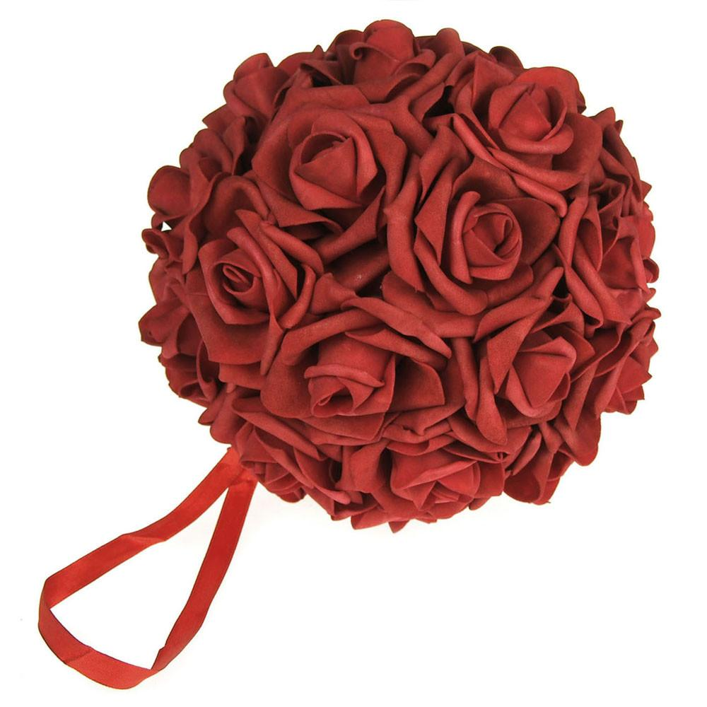 Soft Touch Flower Kissing Balls Wedding Centerpiece, 7-inch