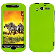 Rubberized Protector Hard Shell Snap On Case for HTC myTouch 4G - Green
