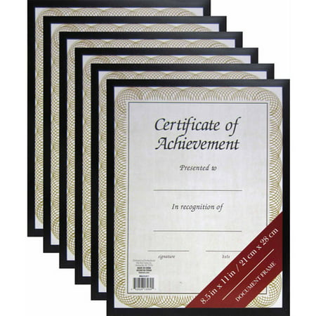 85 X 11 Black Document Frame Set Of 6 Walmartcom