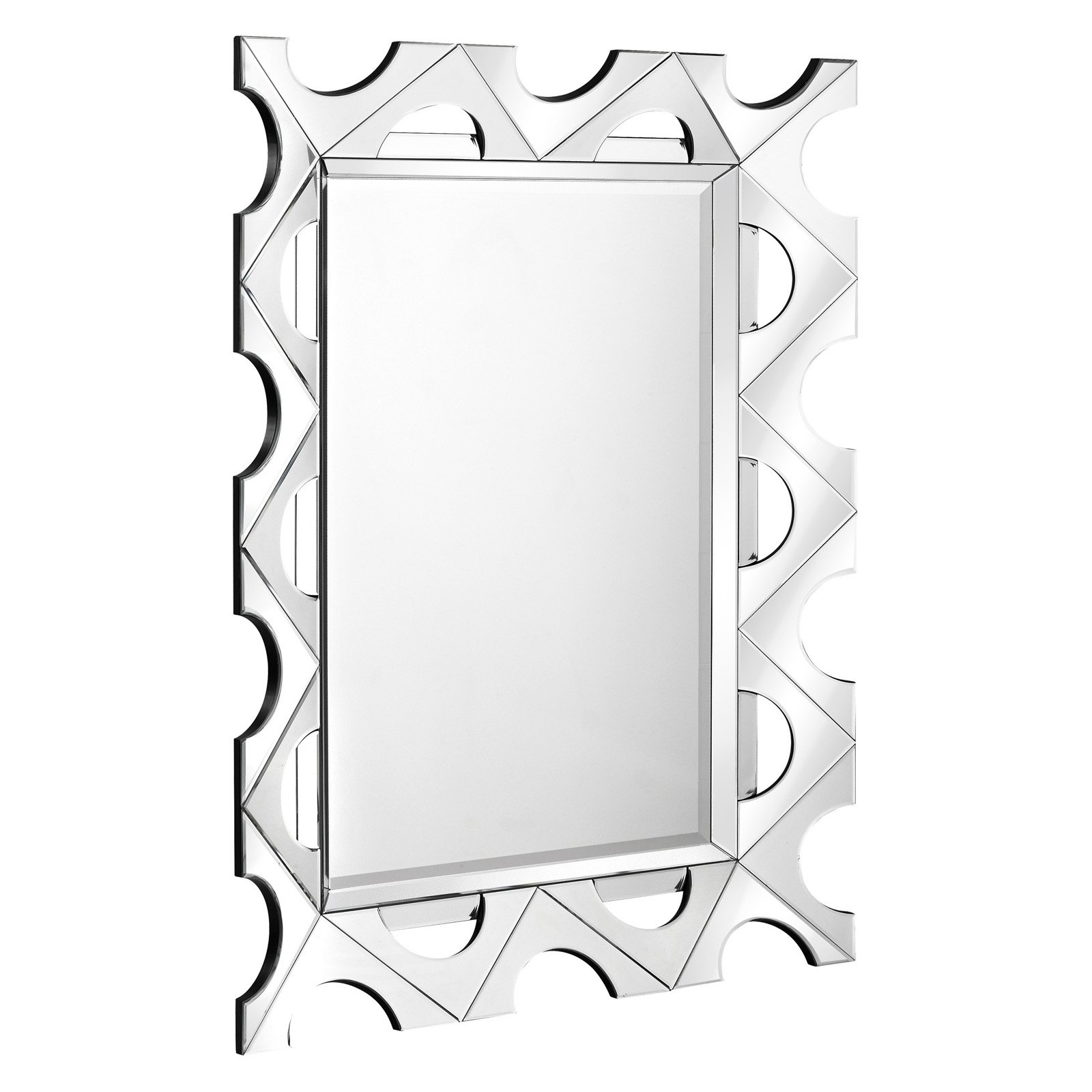 Majestic Unique Beveled Hanging Wall Mirror