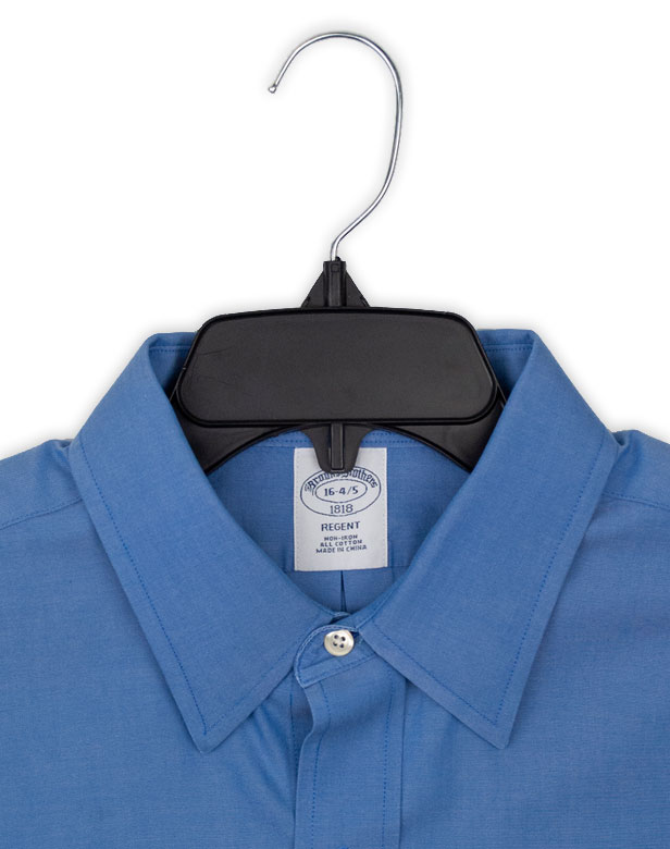 Black Hangon Recycled Plastic with Notches Shirt Hangers 19 Inch 10 Pack