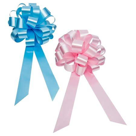 Baby Gender Reveal Party Decorative Ribbons in Blue and Pink - 8