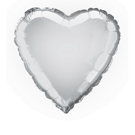 Anagram Metallic Heart Jr Shape Mylar 18