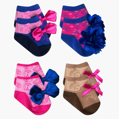 Baby Essentials Baby Girls Country Western Cowboy Cowgirl Boot Socks 4 Pack 0-6 - Best Baby Socks - Favorite Unique Newborn Cute Baby Shower Gift