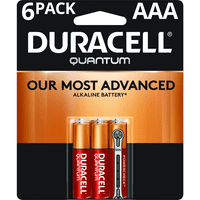 Duracell 1.5V Quantum Alkaline AAA Batteries with PowerCheck, 6 Pack
