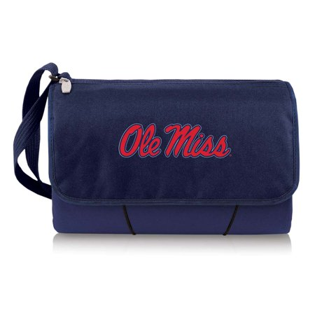 Ole Miss Rebels Throw Blanket Built-In Tote