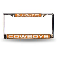 NCAA Oklahoma State Chrome Laser License Plate Frame