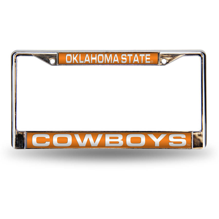 NCAA Oklahoma State Chrome Laser License Plate Frame