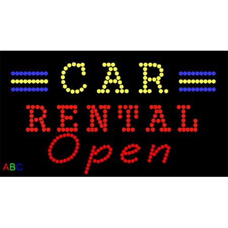 17 X31  Abc Led Signs Animated Car Rental Led Sign W Flashing Controller