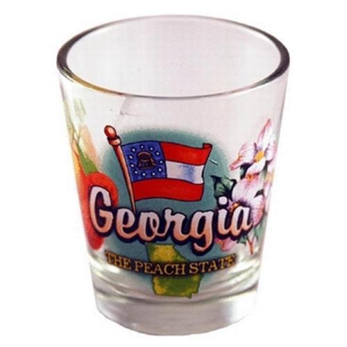 Bulk Buys Georgia Shot Glass 2. 25H X 2 inch W Elements - Case of 96