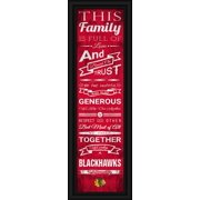 "Chicago Blackhawks Family Cheer Print 8""x24"""