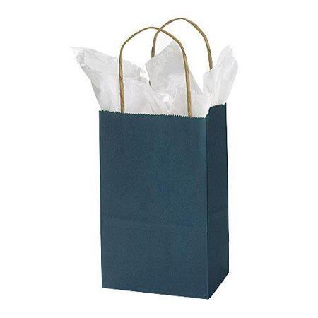 GHP 25-Pcs 5.25 x3.5 x8.5  Paper Navy Blue Twisted Handles Side Gussets Shopping Bags GHP 25-Pcs 5.25 x3.5 x8.5  Paper Navy Blue Twisted Handles Side Gussets Shopping Bags are durable shopping bags will conveniently stow away behind the checkout counter.