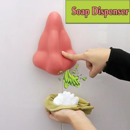 Shower Gel Sanitizer Nose Shape Soap Dispenser For Bathroom With Suction (Nose Shower Gel Dispenser)