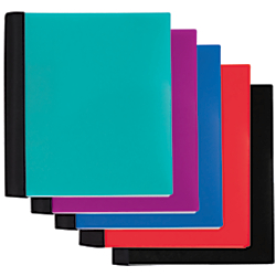 Office Depot Spiral Stellar Notebook, 9in x 11in, 5 Subject, College Ruled, 200 Sheets, 56% Recycled, Assorted, 400-000-387