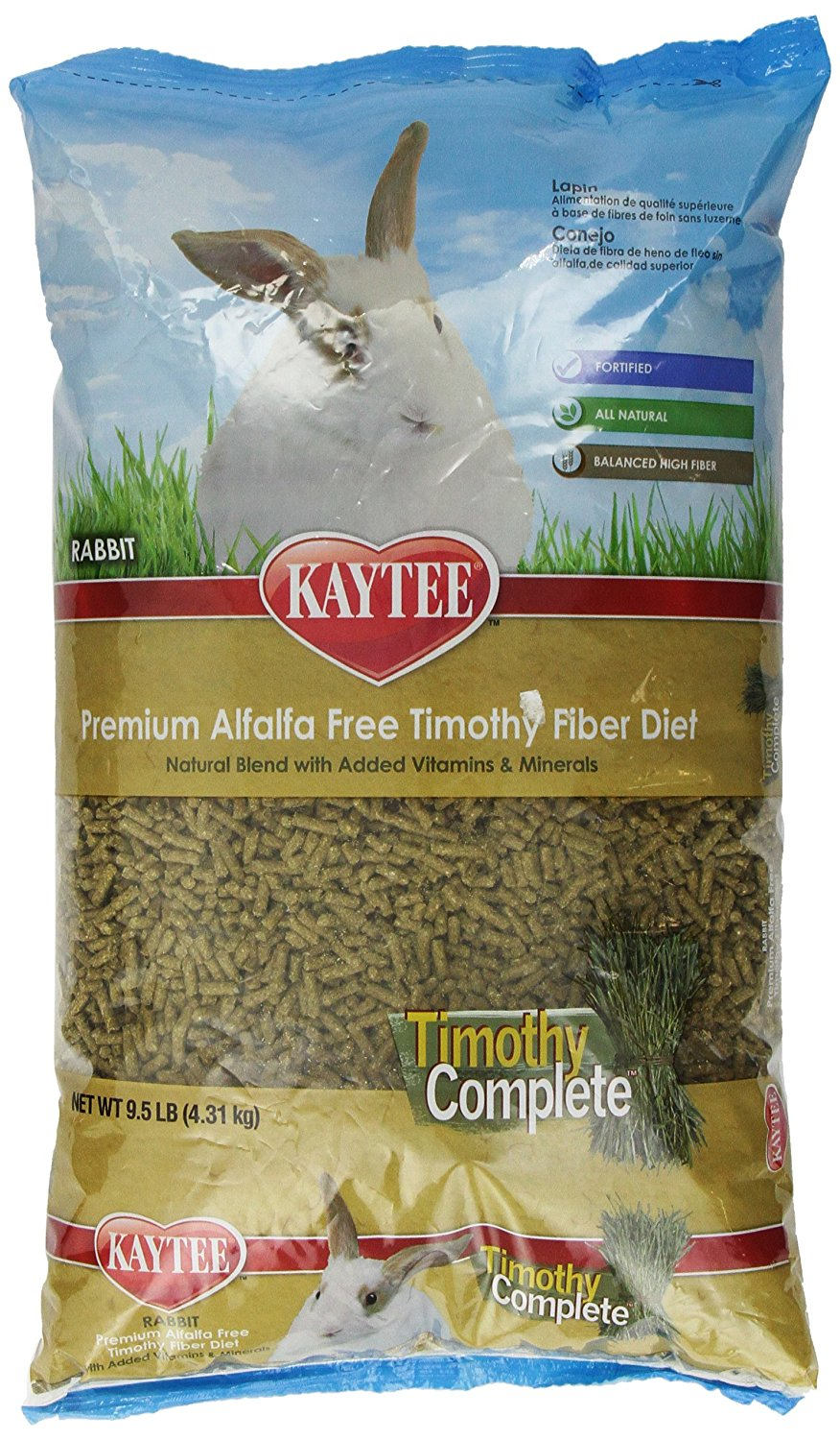 Alfalfa Free Timothy Complete Rabbit Food 9.5-Pound, USA, Brand Kaytee by