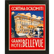 Winston Porter 'Cortina-Dolomiti, Grand Hotel Bellevue' Vintage Advertisement