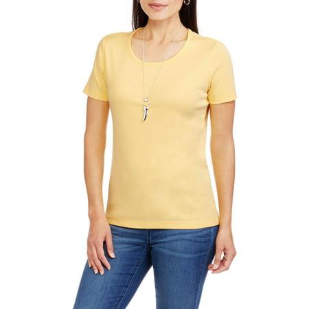 1a0ab0048743b DreamBone - Women s Essential Short-Sleeve Scoopneck T-Shirt - Walmart.com