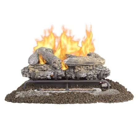 "Pleasant Hearth VFL-VO24DR 24"" Valley Oak Series Vent Free Gas Log Set 33,000 BTU"