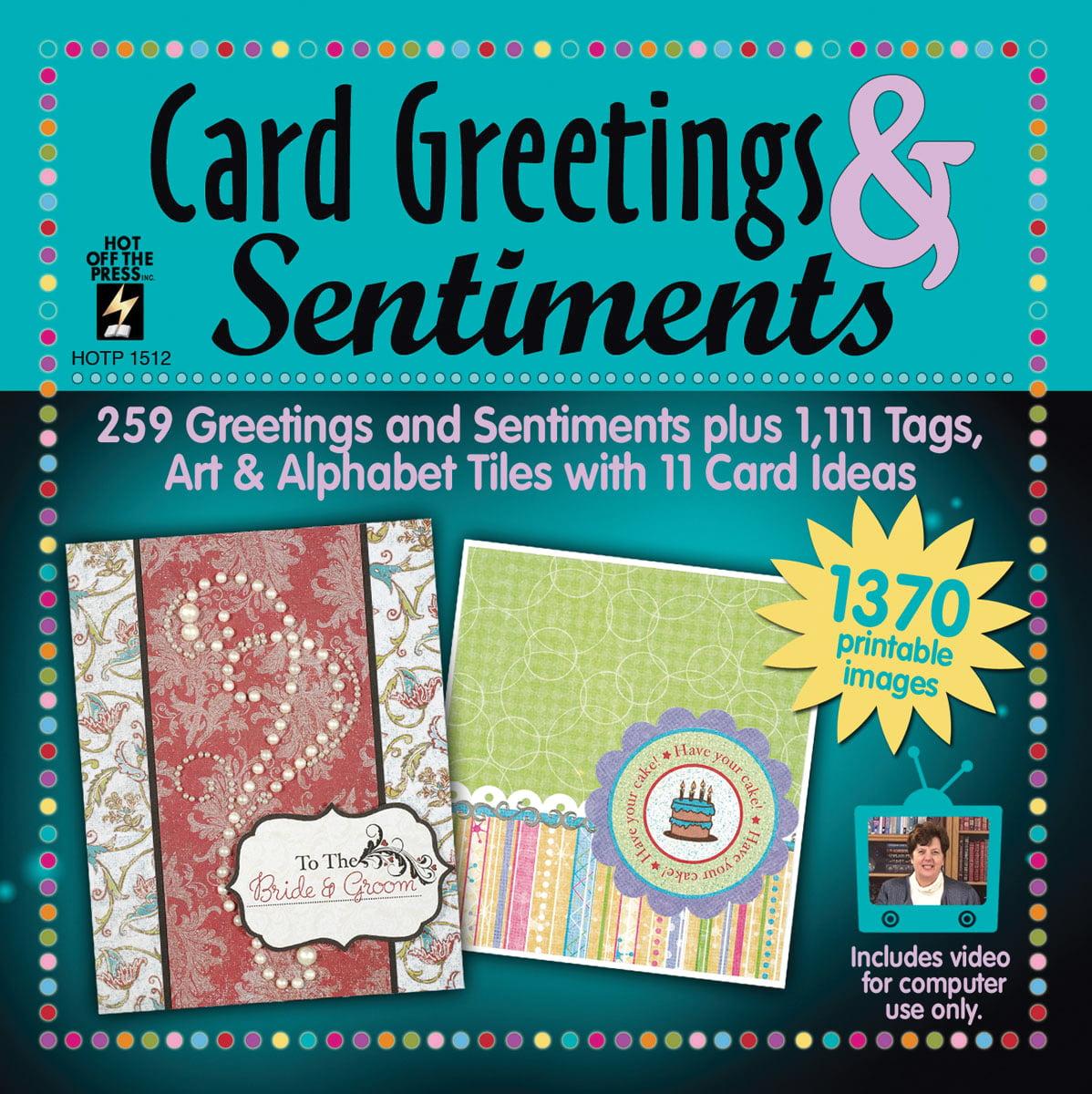 Card Greetings & Sentiments CD-