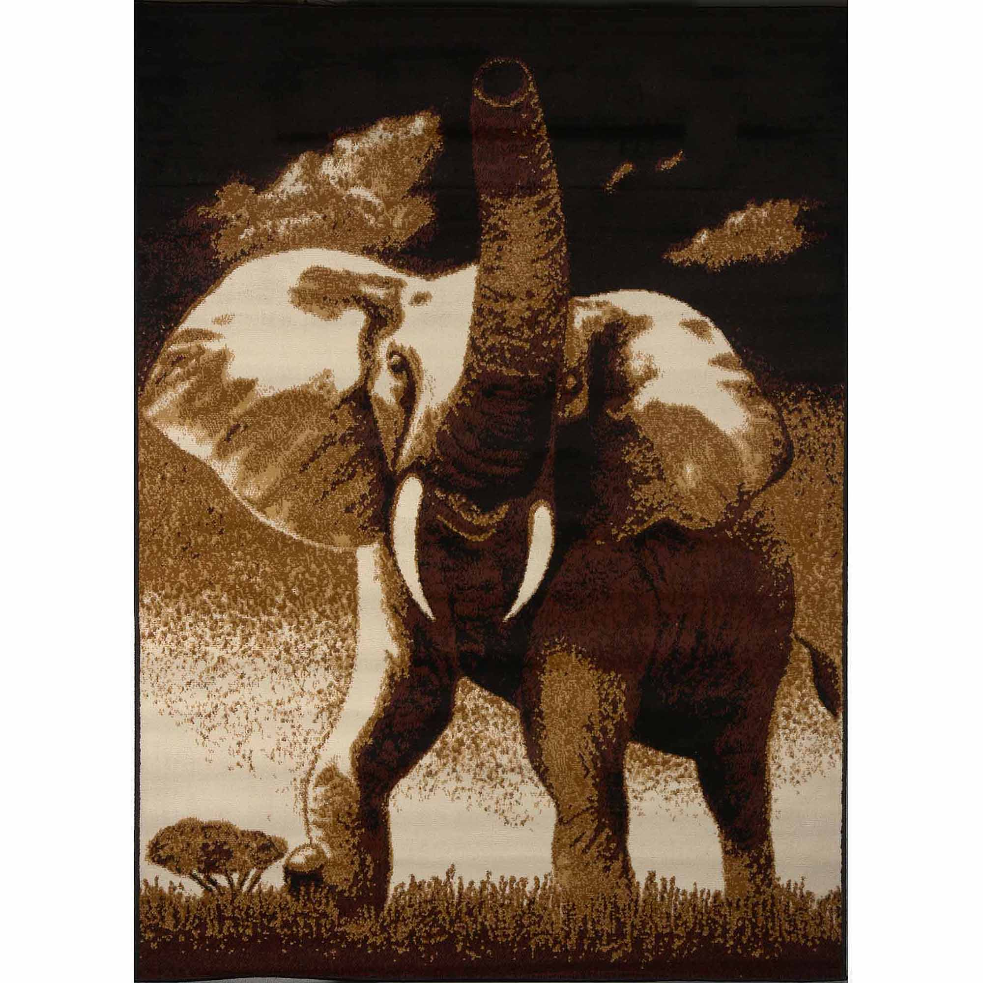 Home Dynamix Zone Collection 7509-502 Area Rug, Ebony