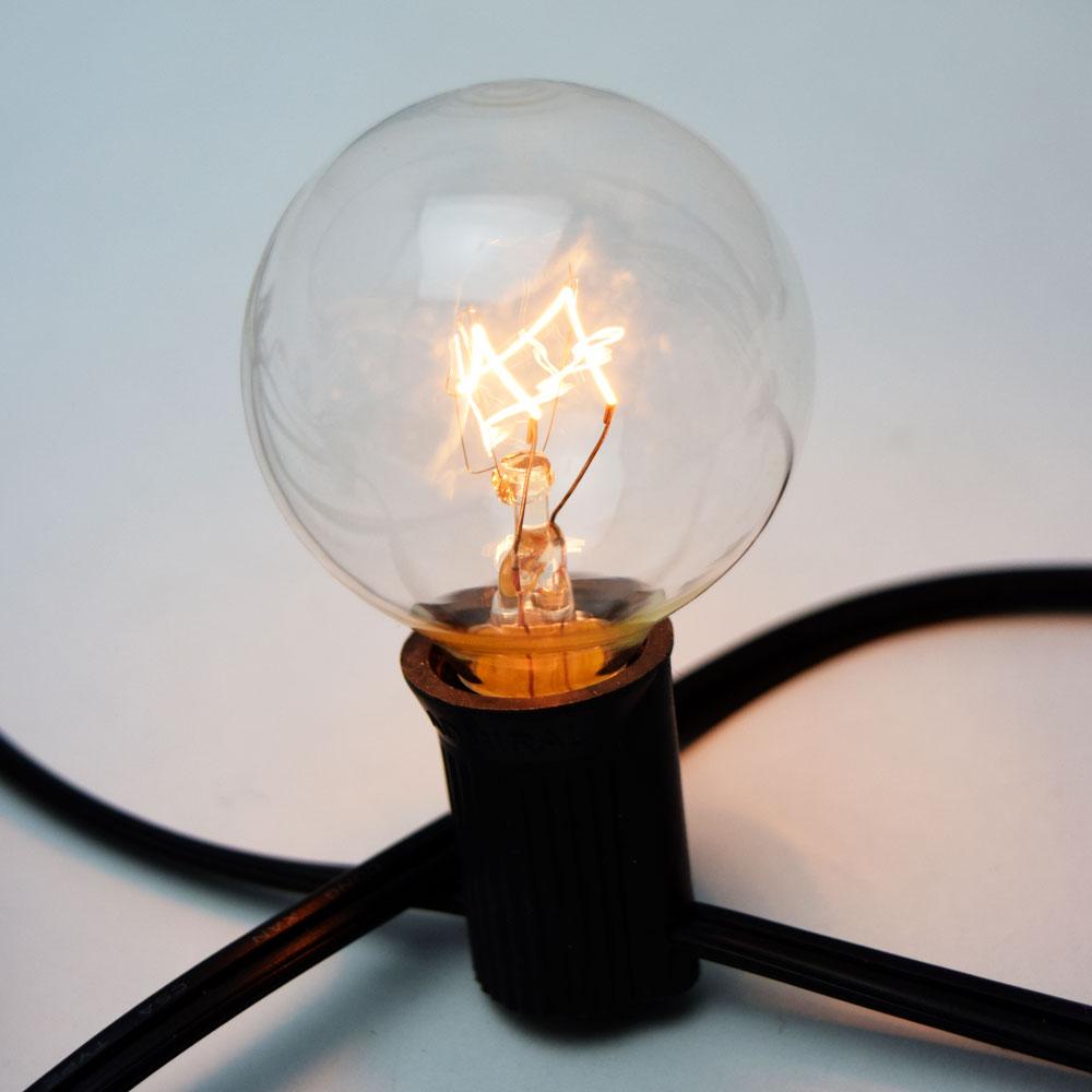 G40 Globe Light Bulbs, Incandescent, E12 Base, 5 Watt (2-PACK)