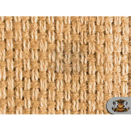 Burlap Natural Fiber BASKET Weave Carpet Fabric / 62