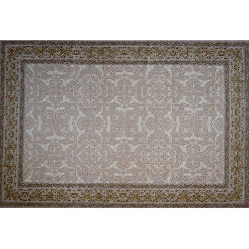 Astoria Grand Gudino Hand Look Persian Wool Ivory/Brown/Blue Area Rug