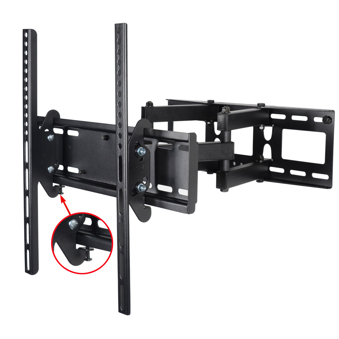 "VideoSecu Articulating TV Wall Mount 26 32 39 40 42 46 47 48 50 55"" LED LCD Plasma HDTV Display Tilt Swivel Bracket BGW"