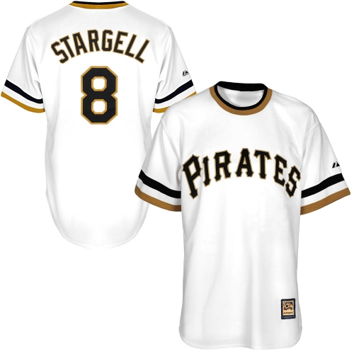 Willie Stargell Pittsburgh Pirates Majestic Youth Official Cool Base Player Jersey - White