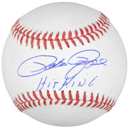 Pete Rose Cincinnati Reds Autographed Baseball with Hit King Inscription Memories Mounted Memories Certified by