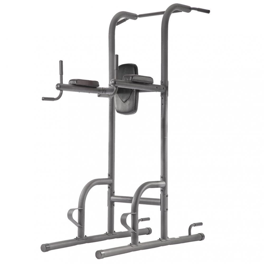 Power Tower Exercise Equipment Adjustable Durable Multi-Function Body Power Tower w/ Dip Station Pull Up Bar For Home
