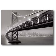 "Courtside Market Lighted Bridge 12""x18"" Gallery-Wrapped Canvas Wall Art"
