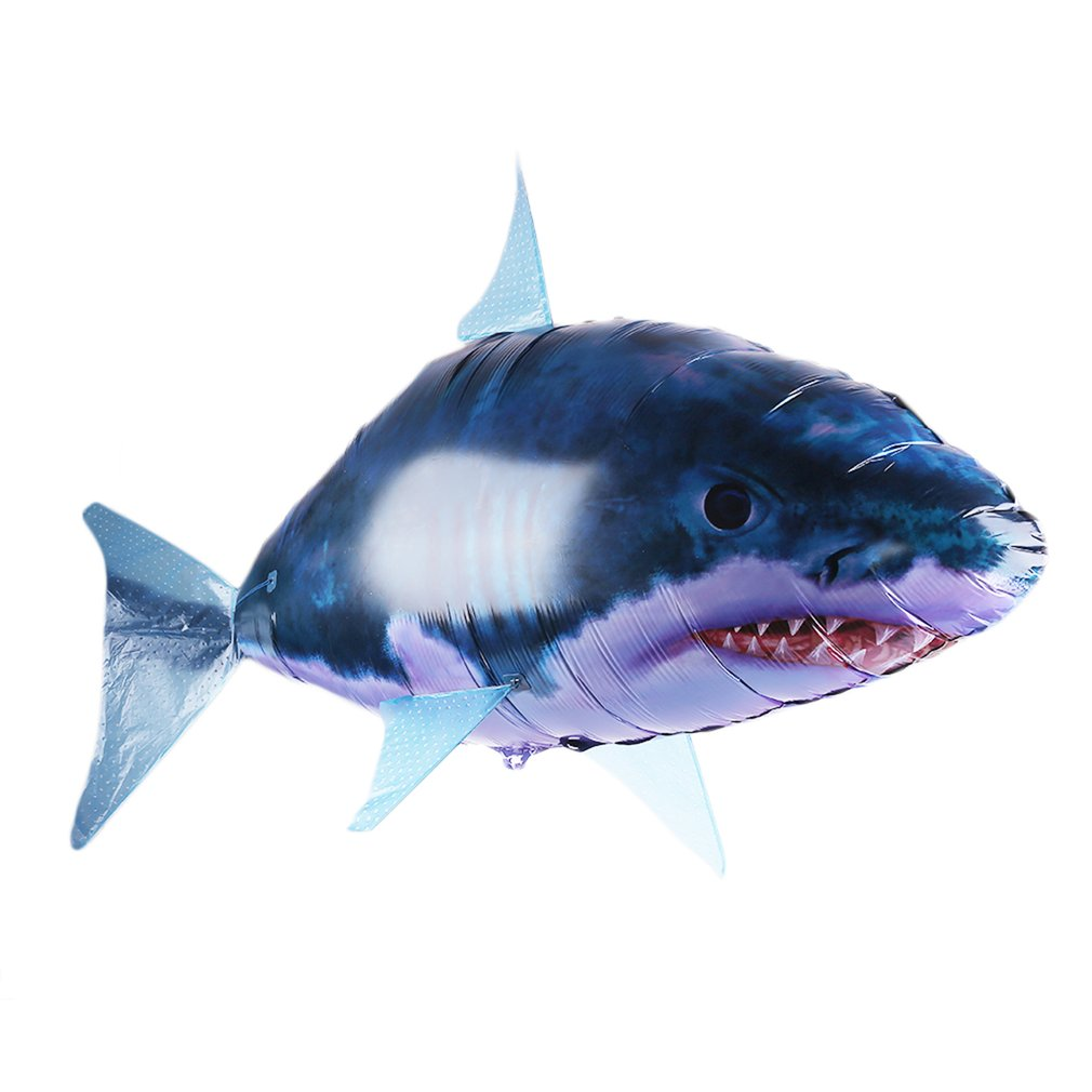 Air Swimmers Remote Control Flying Shark Fish Radio Blimp...