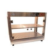 Heatmax Commercial Counter top Food Warmer Display Case With Water Tray 24x15x20 by Rodriguez Bakery Equipment