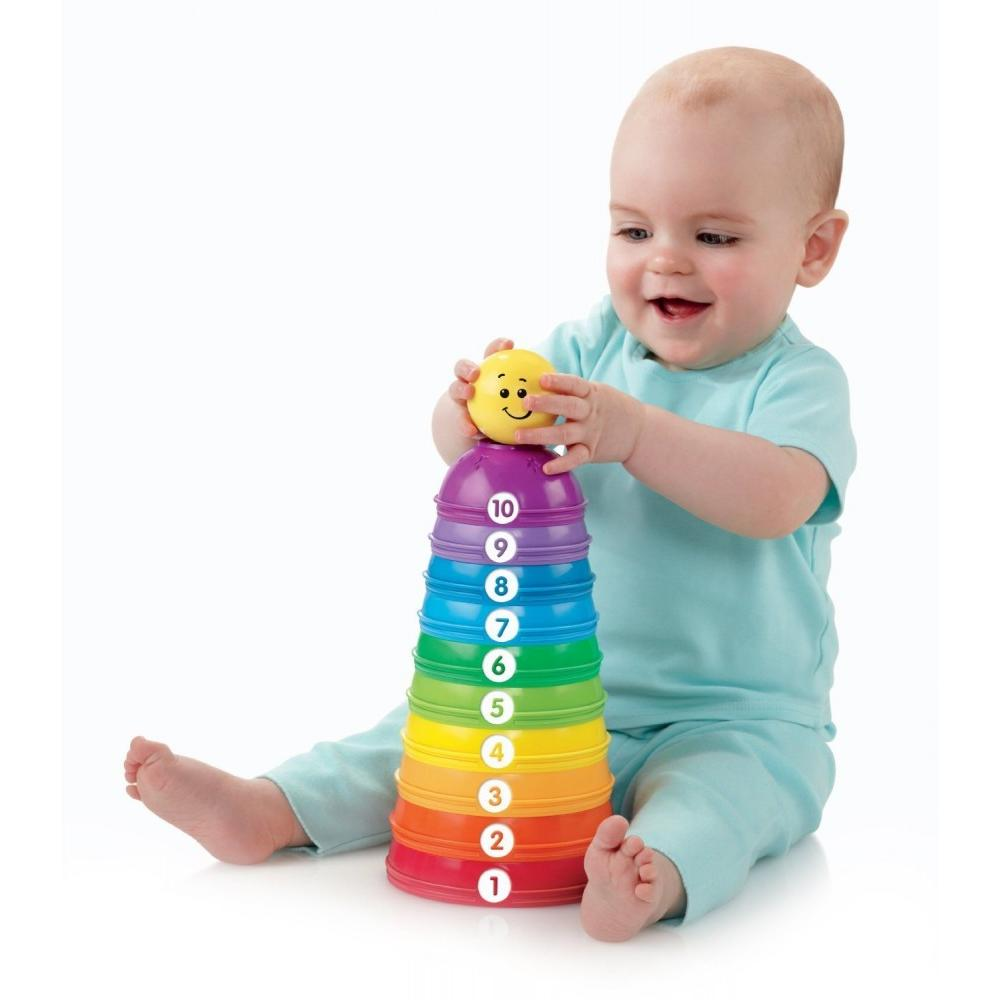 Fisher Price Brilliant Basics Stack and Roll Cups by Fisher-Price