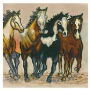 Continental Art Center Art Tile - Four Horses
