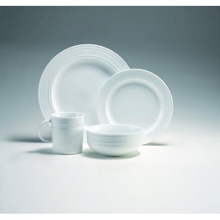 16-Piece Embossed Porcelain Dinnerware Set, Microwave Oven Freezer Dishwasher Safe ()
